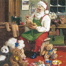 Serviettenset Santa is busy