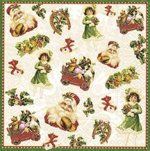 Serviettenset Christmas stickers