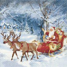 Serviettenset Santa on tour