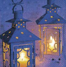 Serviettenset Lanterns on snow
