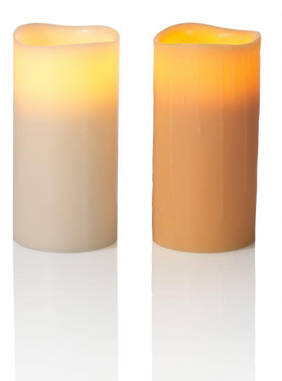 Enjoy Lighting LED-Echtwachskerze Gr. XL