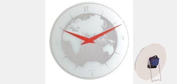 NexTime Wand- und Standuhr Motiv Atlas Ø 20cm Glas