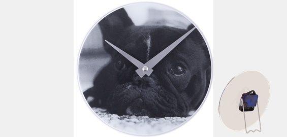 NexTime Wand- und Standuhr Motiv Hund Ø 20cm Glas