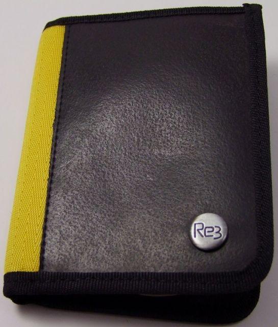 Geldbörse gelb 18*12 cm, Fairtrade aus gebrauchten Reifen