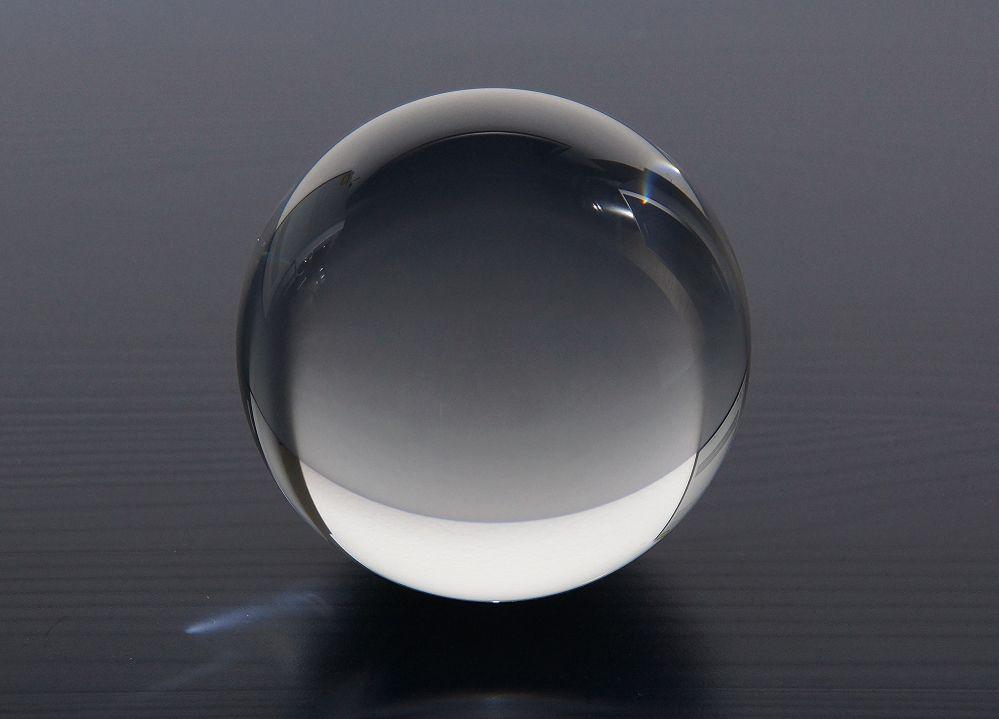 Glaskugel massiv handpoliert 10cm Fotografenqualität