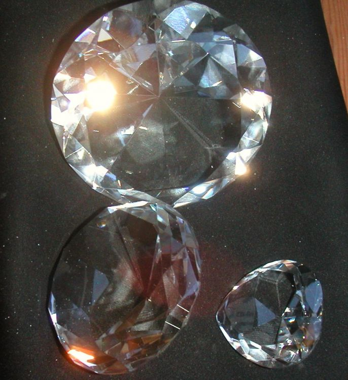 Glasdiamant 10cm klar