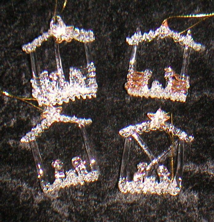 Glaskrippenset 4 Modelle
