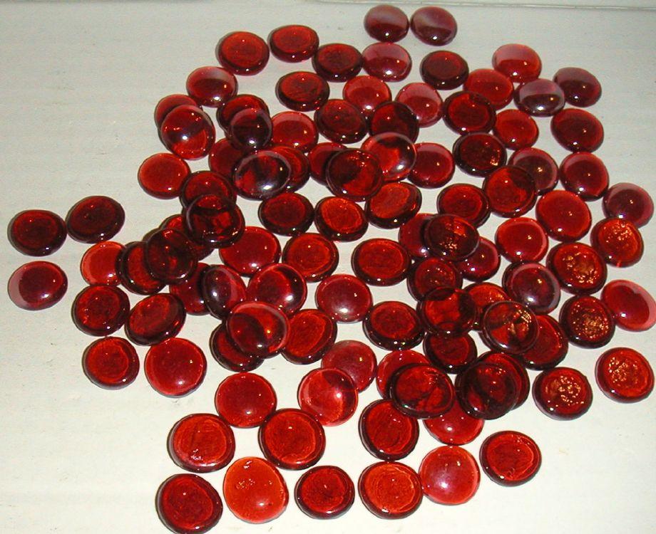 Glasnuggets rot (500g- über 100 Stk.)