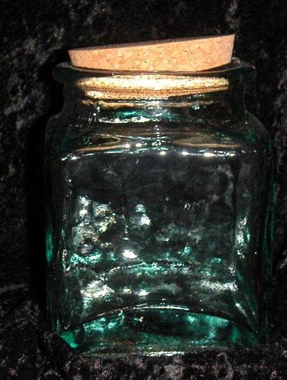 Glas für Kristallsalz eckig oder rund lieferbar
