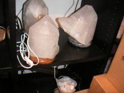 Lampe Bergkristall mit Naturspitzen