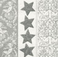 Serviettenset Stars'n' ornament silver