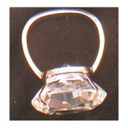 Serviettenring oval mit Glasdiamant