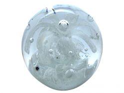 Traumkugel aus Glas klar Blume ca. 9-10cm