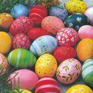 Lunch-Servietten 33x33 cm farbige Eier