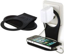 Driinn - flexibler Handyhalter für jede Steckdose schwarz