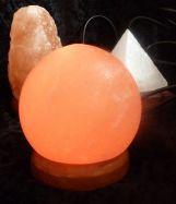 USB-Salzlampe Kugel, LED-Beleuchtung, Farbe Orange