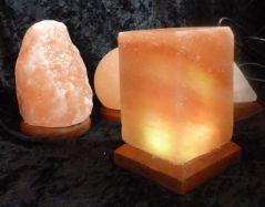 USB-Salzlampe Kubus, LED-Beleuchtung, Farbe Orange