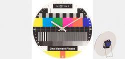 NexTime Wand- und Standuhr Motiv Testbild Ø 20cm Glas