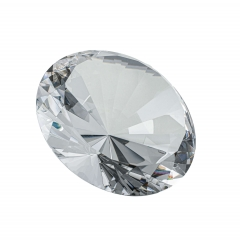 Glasdiamant 20cm klar oder farbig