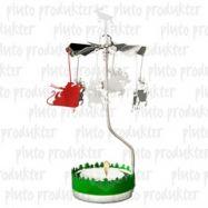 rotierender Teelichthalter Santa mit Rentier