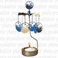 rotierende Teelichthalter blaue Krippe