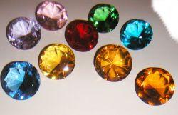 Glasdiamant 6cm in verschiedenen Farben