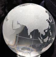 Glaskugel 8cm Globus