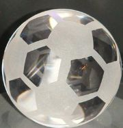 Glaskugel 8cm Fussball