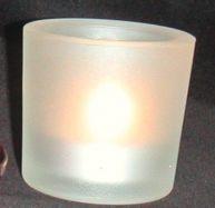 Teelichtleuchter Glas hoch