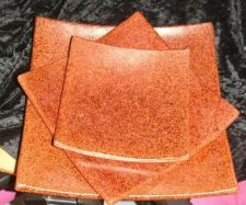 Keramikteller rotbraun in 3 Größen