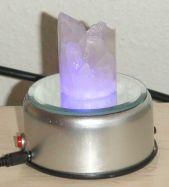 Lichtobjekt Bergkristall Naturspitzen