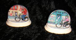 Schneekugel Radfahrer
